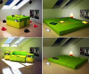 Superbe Modular Furniture Multi Purpose For Small Space Room. Table, Workspace,  Couch, And Giant Bed! Why Buy All Of Those For Hundreds   Thousands Of  Dollars When ...