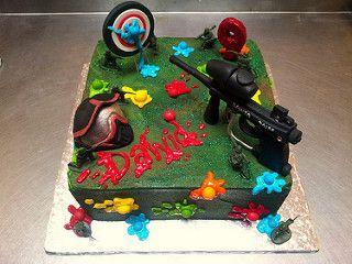 Fine Pin On Cakes Paintball Funny Birthday Cards Online Unhofree Goldxyz