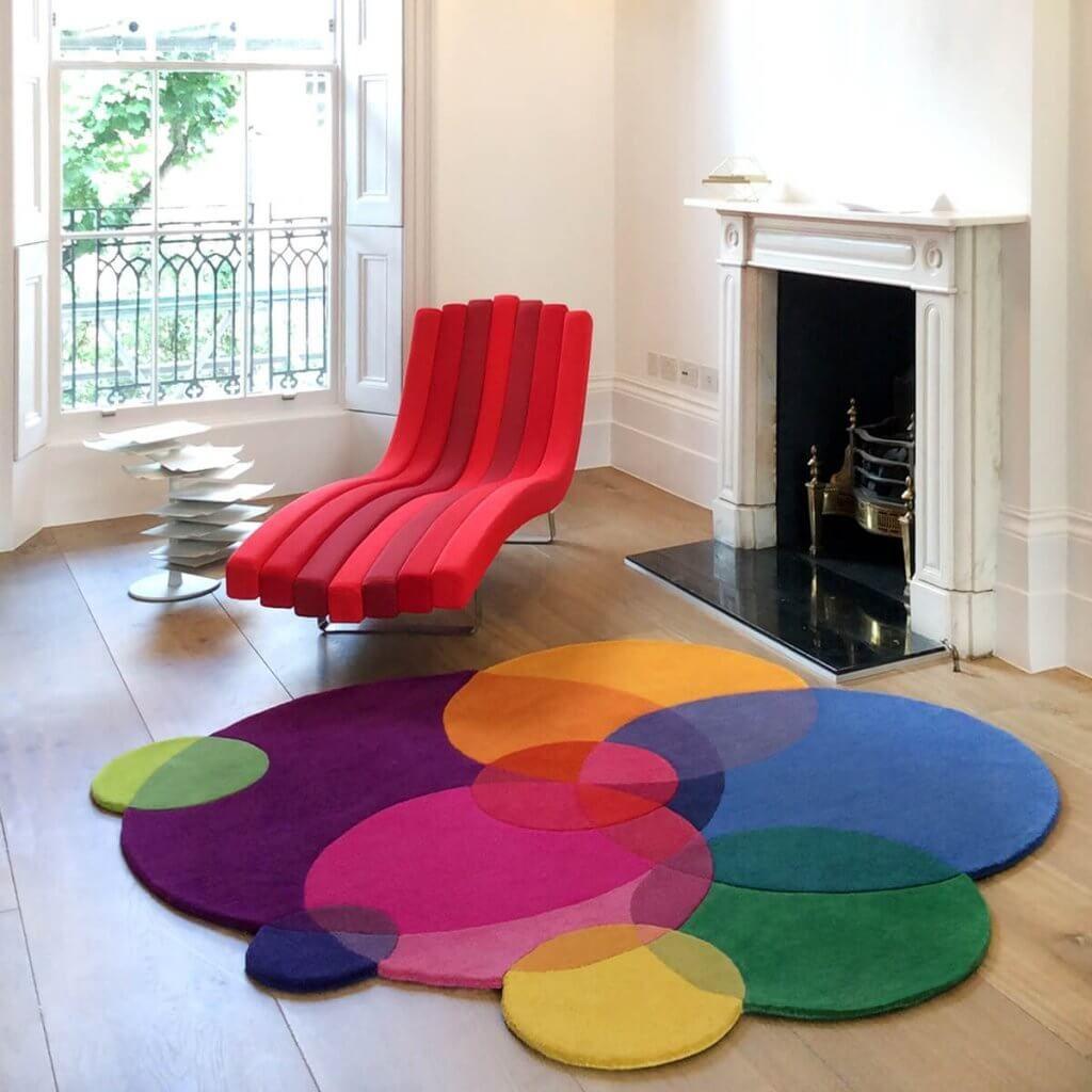 Bubbles Luxury Designer Rug Sonya Winner Rugs Studio In 2020 Rug Design Rugs Uk Contemporary Rugs