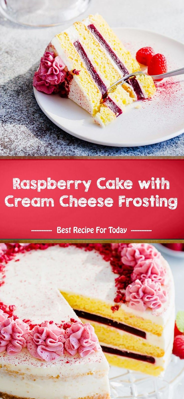 Raspberry Cake With Cream Cheese Frosting Healthy Recipes Resep Makanan Penutup Resep Kue Keju Hidangan Penutup