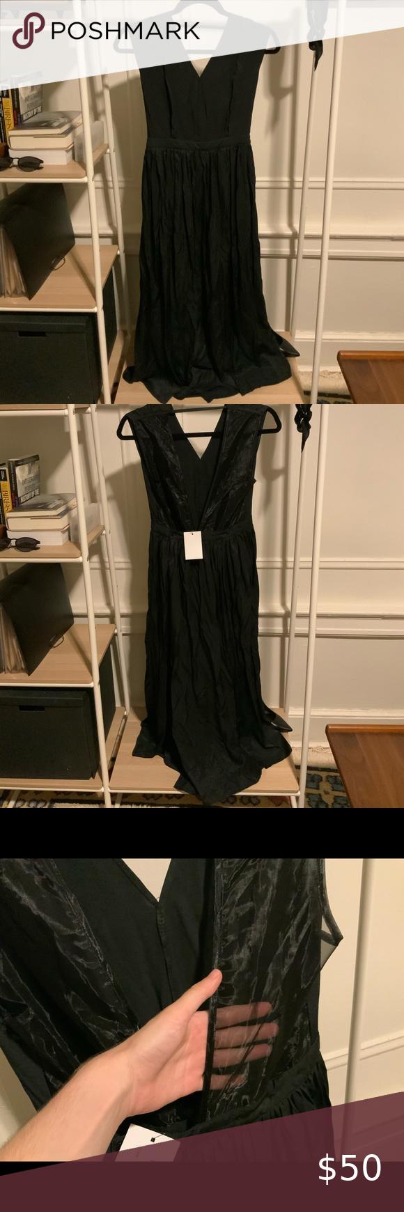 Oak And Fort Black Maxi Dresss Black Maxi Black Dress Formal Going Out Dresses [ 1740 x 580 Pixel ]