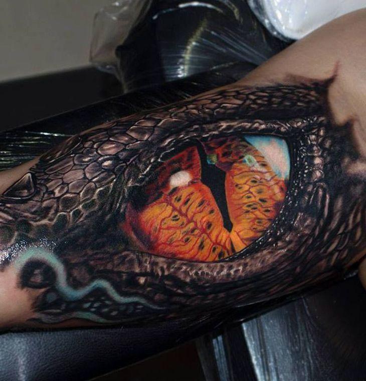 Oko Krokodyla Tatuaż Na Ręce Tattoos Tattoo Sleeve
