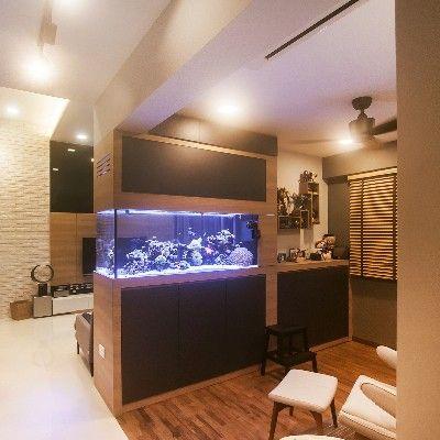 Parkland Residences, Scandinavian DBSS Interior Design, Aquarium Design At  Home