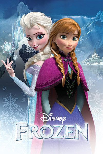 Poster Anna Y Elsa Frozen El Reino Del Hielo Poster Con La Imagen De Las Dos Her Princesas Disney Tatuadas Imagenes De Frozen Carteles De Peliculas De Disney
