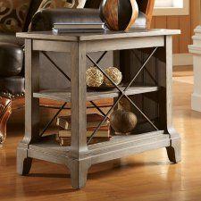 Riverside Windhaven Chair Side Table - Shenandoah Barnwood