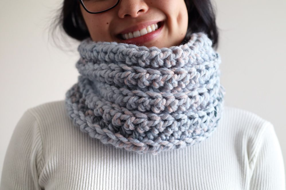 30 Minute Crochet Cowl - Arctic Ice Snood - free pattern ...