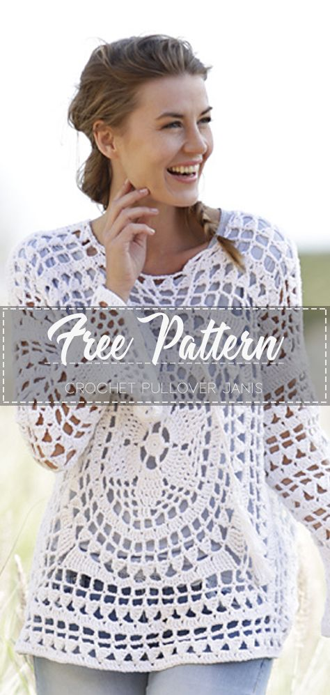 Crochet Pullover Janis – Free Pattern #crochetclothes