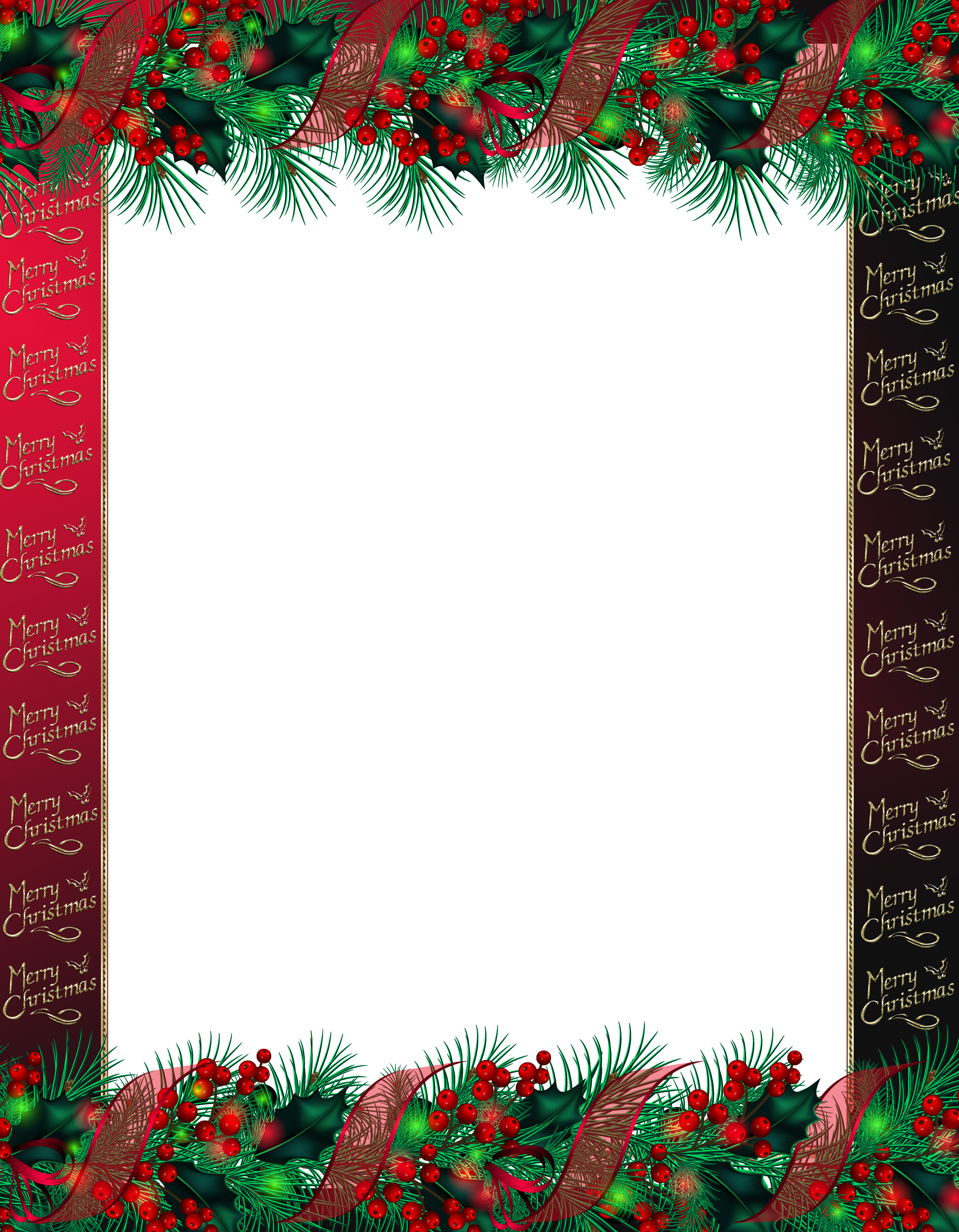 Transparent Red Merry Christmas PNG Photo Frame | Gallery ...