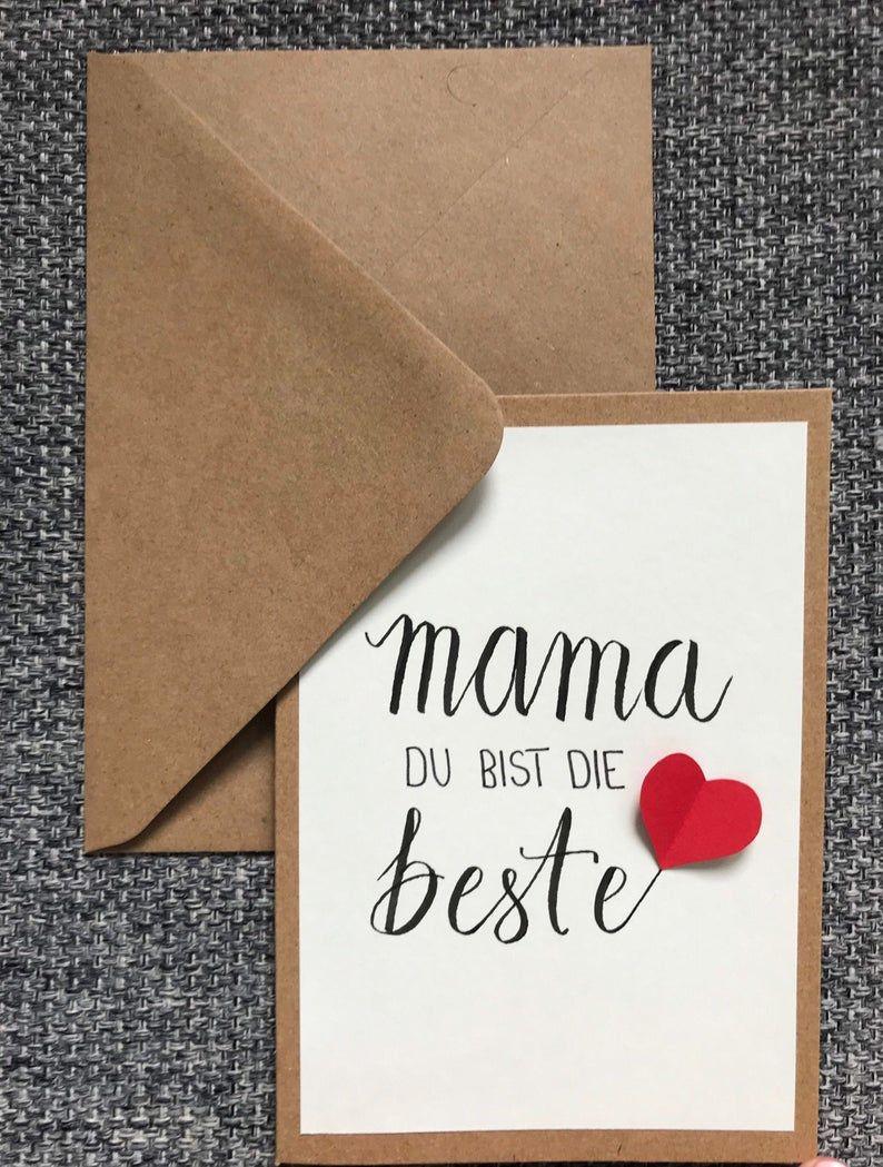 Mama Du Bist Die Beste Muttertag Muttertagskarte Handlettering Handgemacht In 2020 Fathers Day Crafts Mothers Day Crafts Kindergarten Crafts