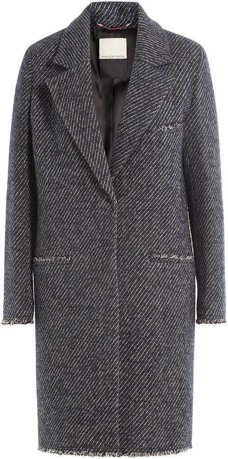 By Malene Birger Striped Wool Coat