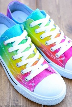 89c8b669fbc6 Rainbow Tie-Dye Shoes