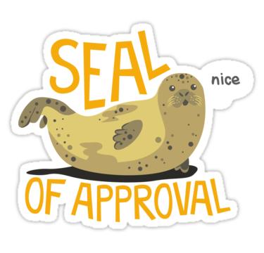 Seal Of Approval Sticker By Jaffajam Computer Sticker Stickers Wallpaper Stickers