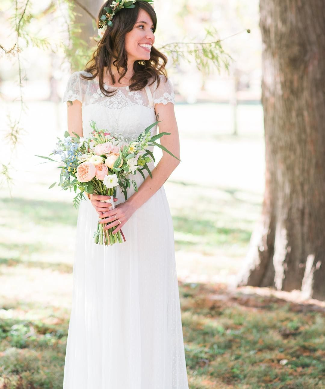 David 39 s bridal bride rita in a cap sleeve tulle sheath for Sheath wedding dress with cap sleeves