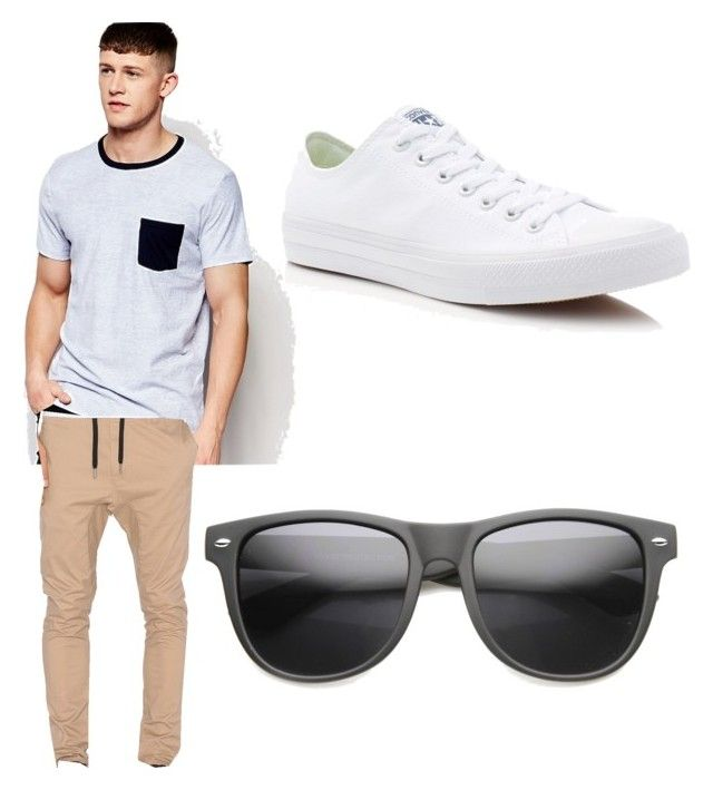 """Guys.."" by yang7 ❤ liked on Polyvore featuring Abercrombie & Fitch, Zanerobe, Converse, men's fashion and menswear"