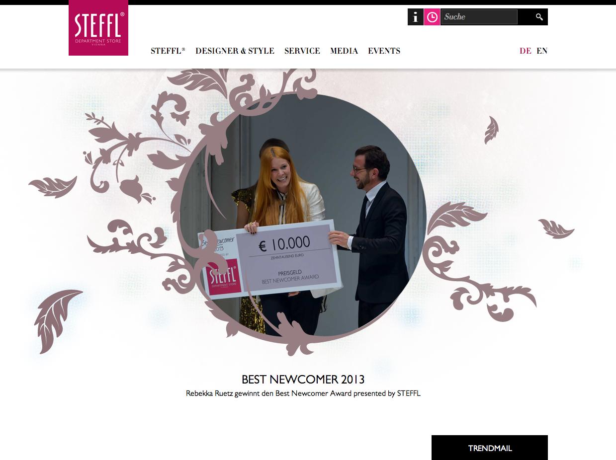 Rebekka Ruetz || Steffl Webseite   http://www.steffl-vienna.at/