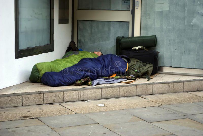 Homeless People Sleeping In A Doorway Two Homeless People Seeking Shelter In A Affiliate Sleeping Doorwa People Sleeping Homeless People Derelict House