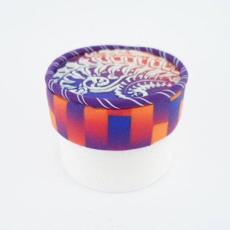 complementary colors skinner, 2x fired inlay lid -Lisa Pavelka