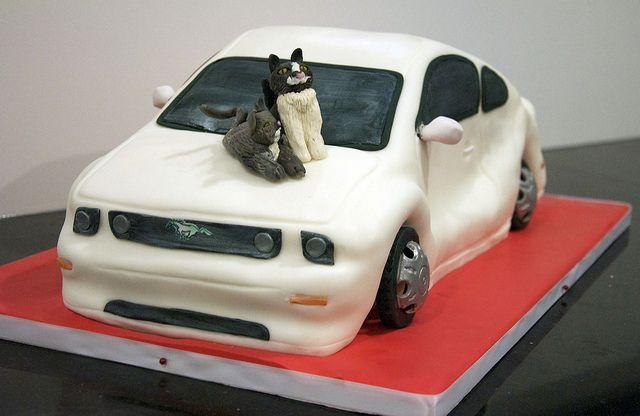 Sweet grooms cake idea... minus the cats lol