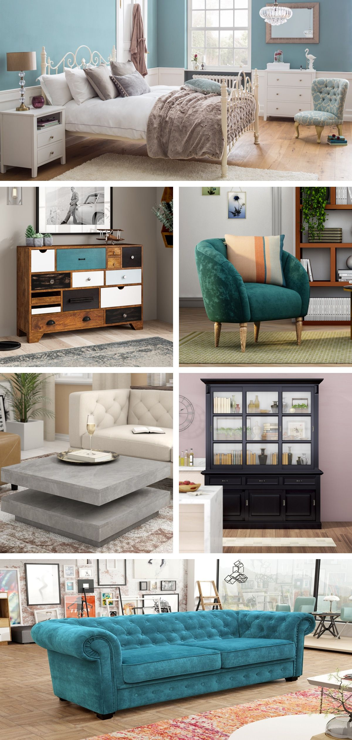 Check out Wayfair for curated sales, inspiration for all