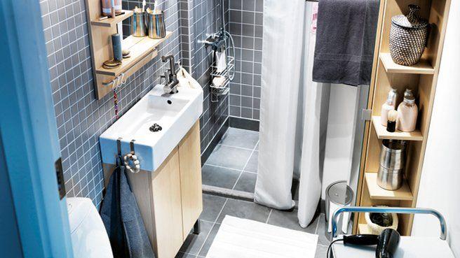 amenager petite salle de bain salle d 39 eau pinterest minis blond et bricolage. Black Bedroom Furniture Sets. Home Design Ideas