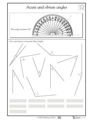 Our 5 favorite 4th grade math worksheets   Protractor, Math ...