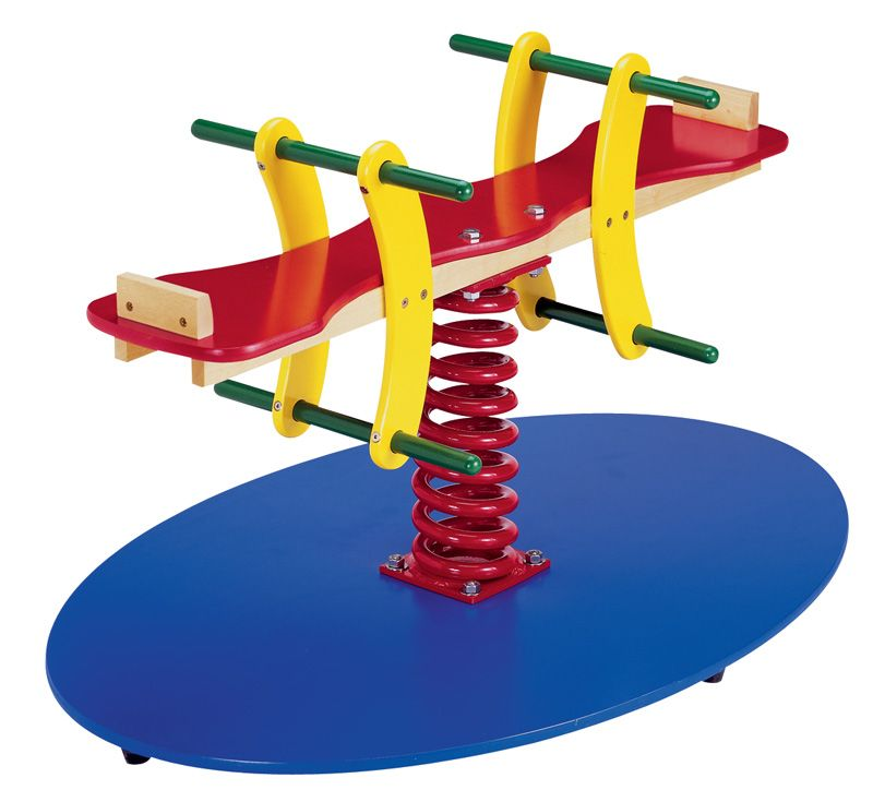 Seesaw Spring Swing - Wooden Swing Set for Indoor Playground - UPS ...