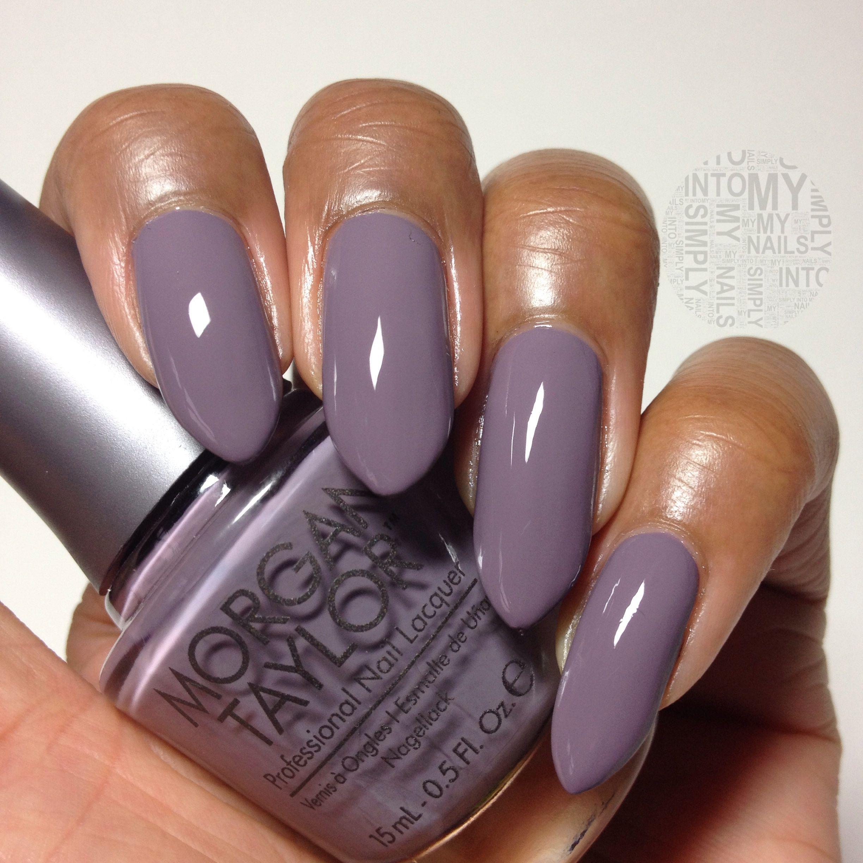 Morgan Taylor Pretty Wild Nail Polish On Beautiful Dark