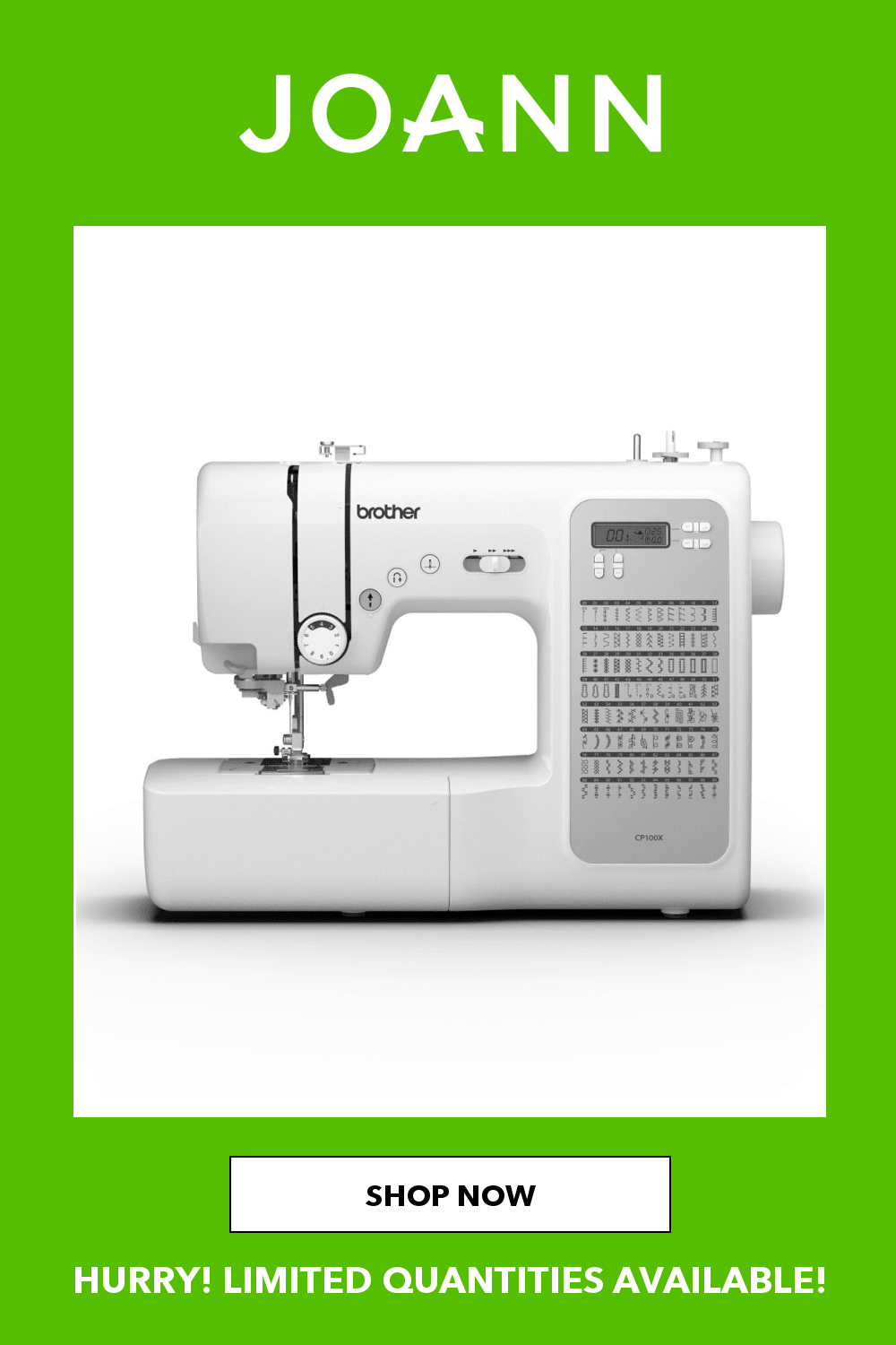 Joann Sewing Machines : joann, sewing, machines, Brother, Cp100x, Sewing, Machine, JOANN, Machine,, Sewing,, Quilting
