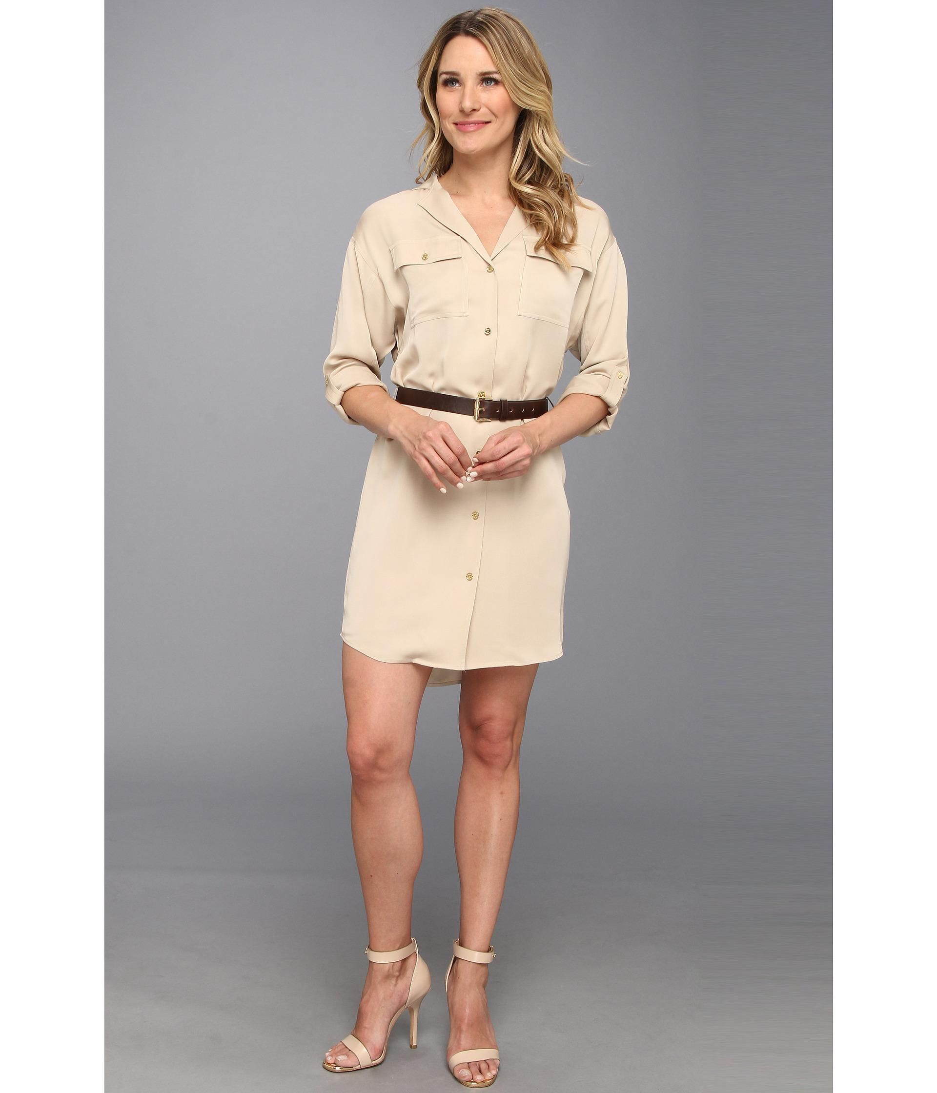 e071e881bd Look safari-chic in this divine MICHAEL Michael Kors® dress.. Fabricated  from a silky polyester ch.