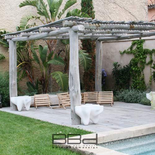 pergola bois flotte id es deco pinterest pergola bois pergola et bois. Black Bedroom Furniture Sets. Home Design Ideas