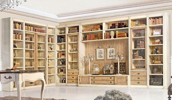 Biblioteca vintage para el hogar casa escalera de for Muebles bibliotecas para living