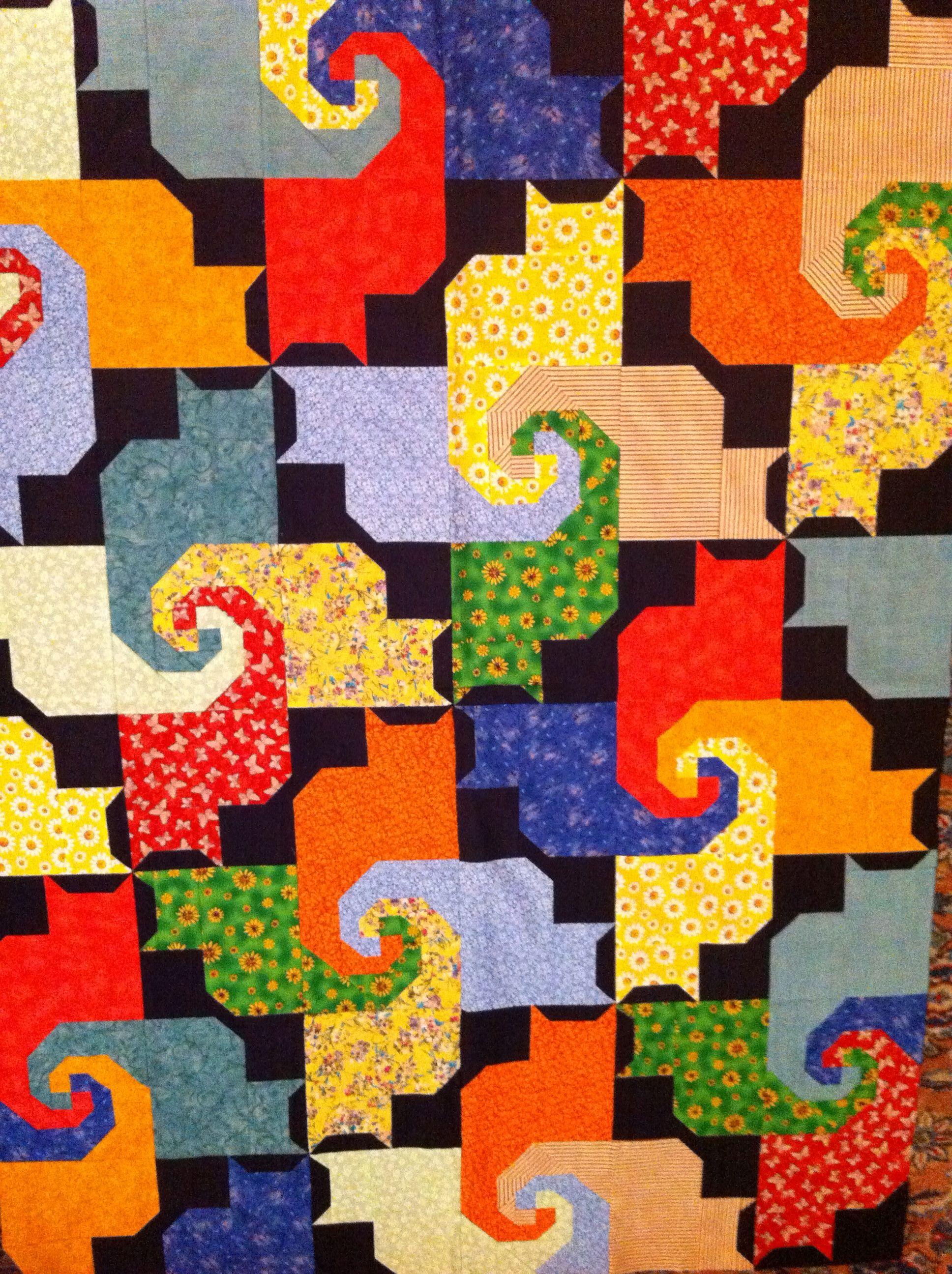 Kool Kats Kwilt Quilts Pinterest Cat Quilt Patterns Patchwork