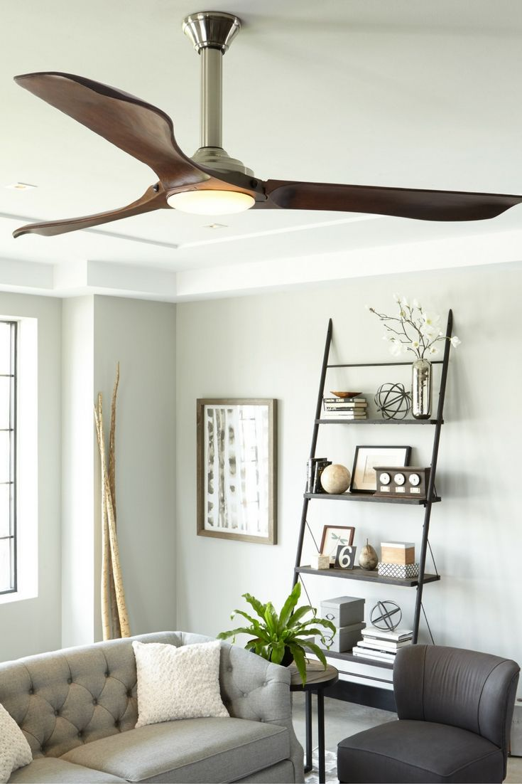 Ceiling Fan From Monte Carlo Features Softly Rounded Hand Carved Balsa Blades And Elegantly Simple Housing Ideal For Modern Extra Large Living Rooms