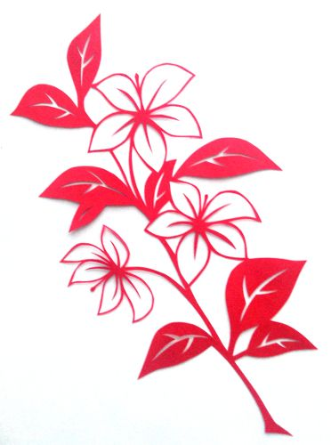 Cut paper design flower branch silhouettelaserdie cuts cut paper design flower branch mightylinksfo Image collections