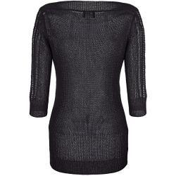 Amy Vermont, Pullover mit transparentem Spitzeneinsatz, schwarz Amy Vermont #sweaterdressoutfit