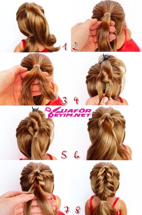 Cocuk Sac Orgu Modelleri Ve Yapilislari Resimli Anlatim En Iyi 24 Fikir Peinados Escolares Faciles Peinados