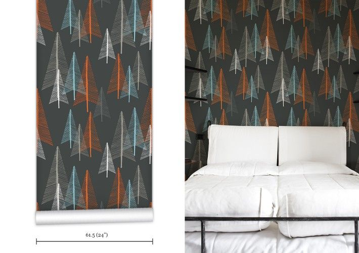 WR0339PPC - Deep In The Forest Wallpaper. Contemporary, illustrative and original wallpaper collection from Byron Bay designer Maraya Rodost...