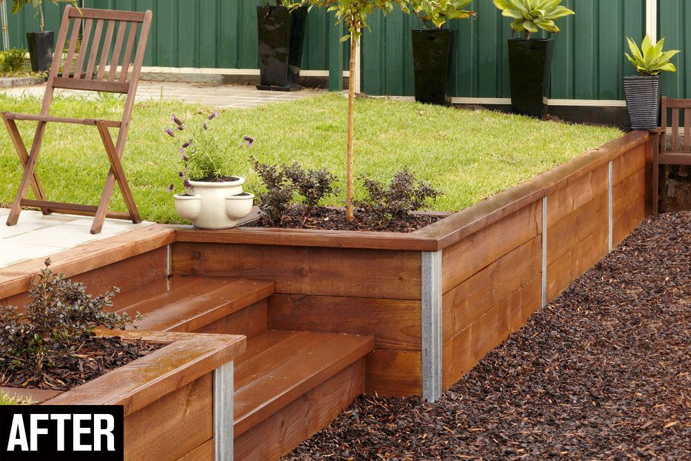 Build a retaining wall handyman magazine retaining for Simple wall garden ideas
