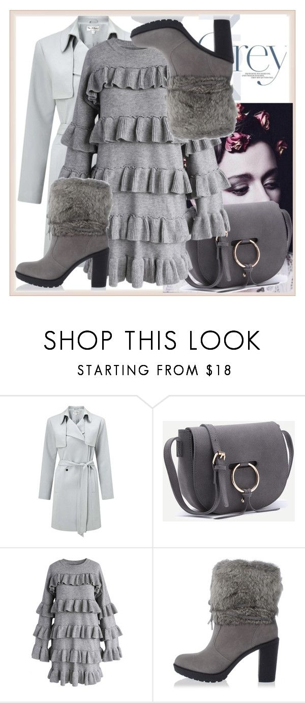 """Grey monochrome"" by www-mbalenhlemm ❤ liked on Polyvore featuring Miss Selfridge, Chicwish and Michael Kors"
