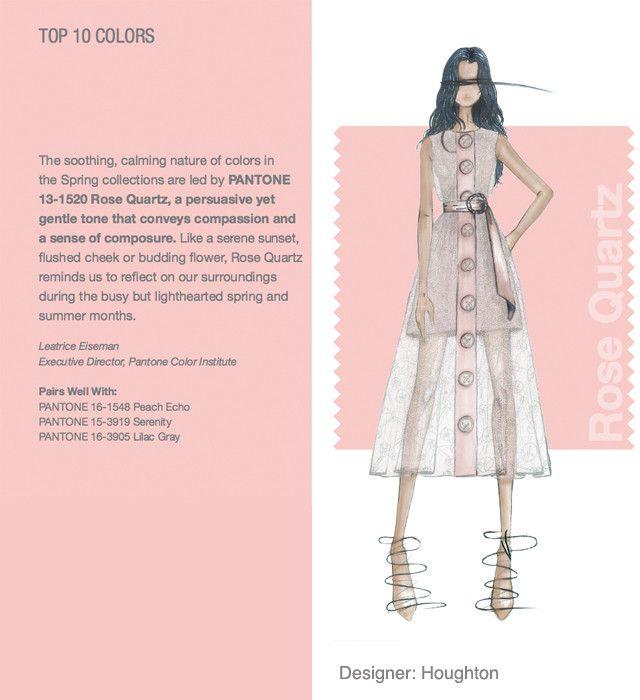Nyfw Pantone Color Report Top 10 Colors Rose Quartz Designer Houghton Spring Summer 2016 Fashion Spring Fashion Trends 2016 Fashion Trends