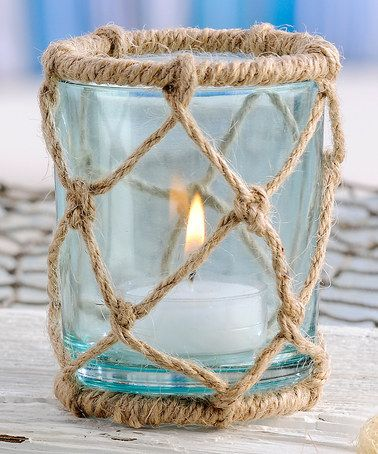 Take a look at this Sea Foam Rope Candleholder by Seaside Style: Home Accents on @zulily today!