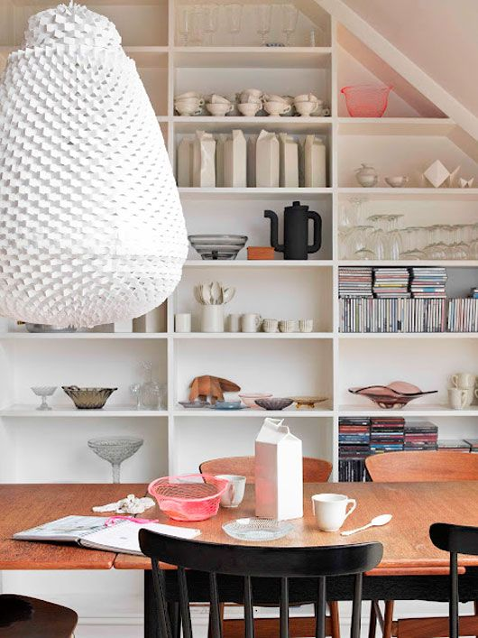 Home of Norwegian based ceramic designer Aune Eriksen in norwegian Elle Decoration via SFgirlbybay.