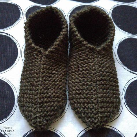 DIY kostenlose Strickanleitung | Warme füße, Hausschuhe und Wolle