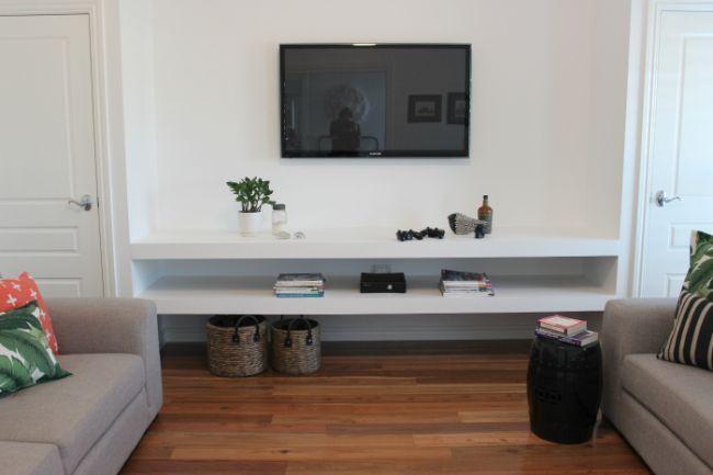 Floating Shelf Under Tv Floating Shelves Think Tank
