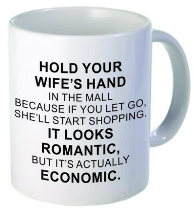 Hold Your Wifes Hand At The Mall Funny Gag Gift Coffee