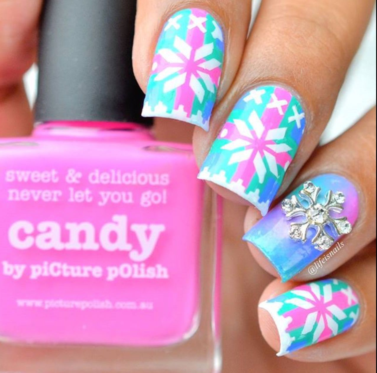 Picture Polish Fest 2017 Nail Art By Lifeisnails Features Candy Swagger Tingle
