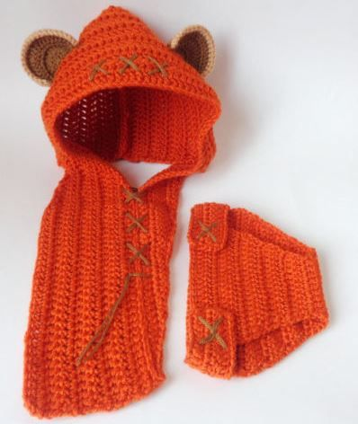 ewok baby hood and diaper cover costume set from star wars for newborn photo prop baby halloween wig cosplay wig baby shower gift - Diaper Costume Halloween