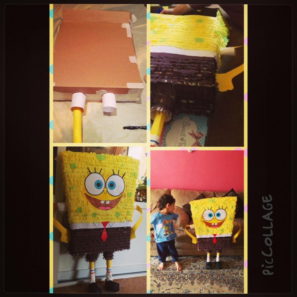 Sponge bob pinata diy kuwait Diy Spongebob pinata Pinterest