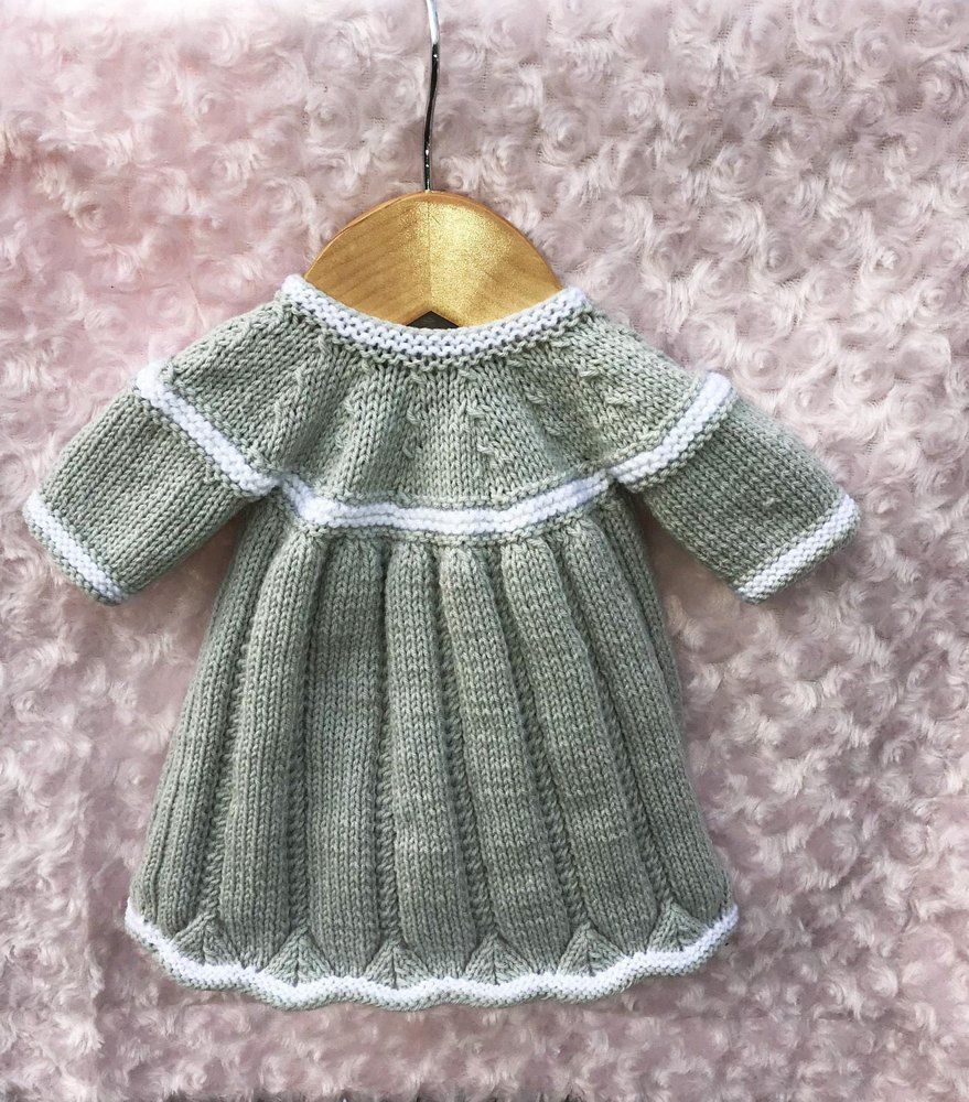 ec7fc25ed Knitting pattern no. 51 by Pizpaw Patterns. Dress to fit a baby from ...