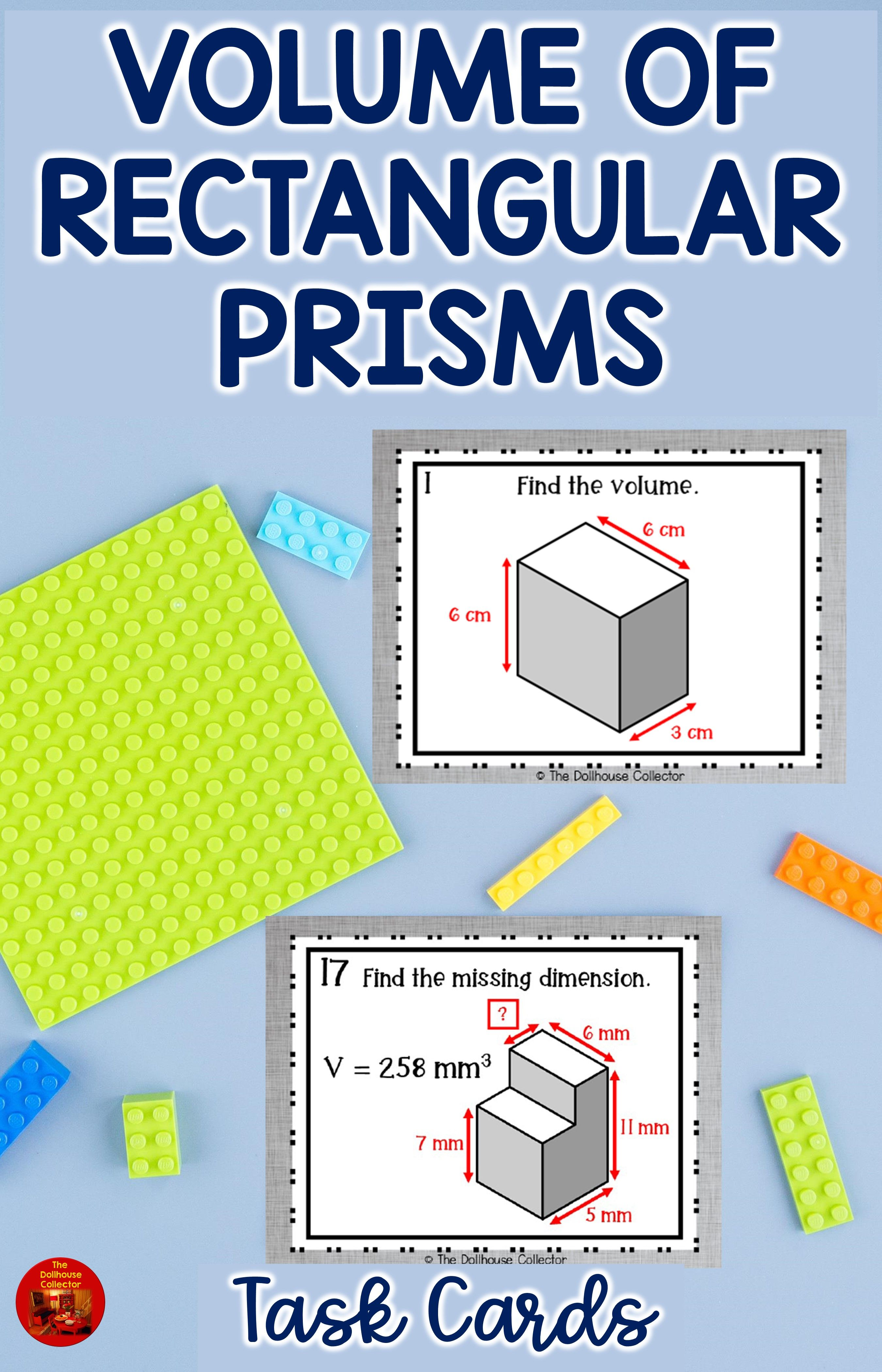 Volume Of Rectangular Prisms Task Cards 5 Md C 3 In 2021 Task Cards Math Task Cards Upper Elementary Math Centers [ 4200 x 2700 Pixel ]